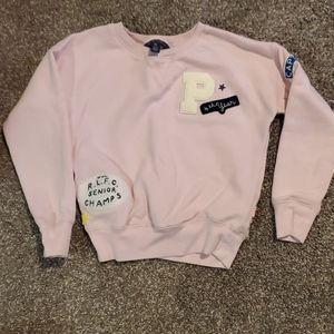 Ralph Lauren semi crop top sweatshirt